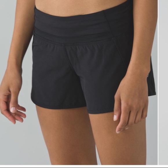 "Lululemon Run Times Short 4"" black size 10"